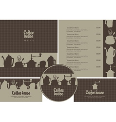Coffee house set vector