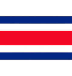 costa rican flag vector image