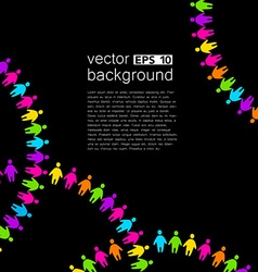 background template with colorful people vector image