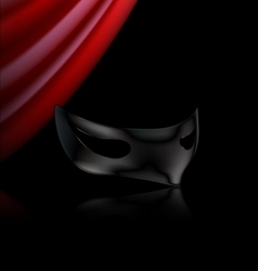 dark mask and red drape vector image