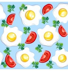 Seamless breakfast pattern vector image