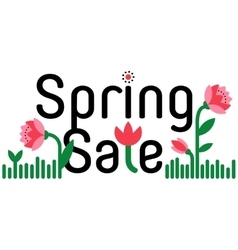 Spring sale and discount cartoon banner vector