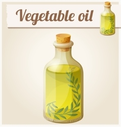 Vegetable oil Detailed Icon vector image