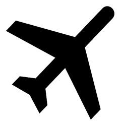 Aircraft fly symbol vector