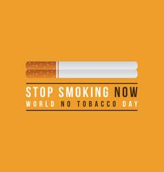 background no tobacco day vector image vector image