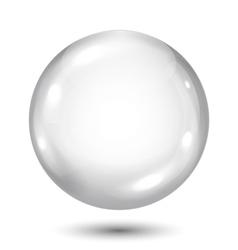 Big opaque gray sphere vector