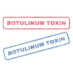 botulinum toxin textile stamps vector image