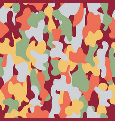 Camouflage seamless pattern in a burgundy light vector