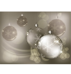 christmas background baubles color 10 v vector image vector image