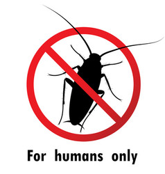 Cockroaches and stop cockroach sign symbols vector
