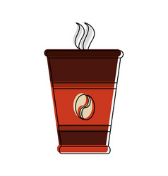 coffee to go cup vector image