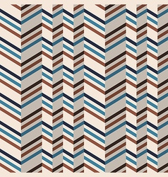 Fashion chevron pattern in brown retro colors vector