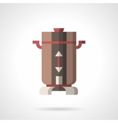 Flat color coffee mill icon vector