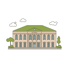 Flat School vector image vector image