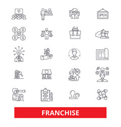 Franchise businesssmall business franchisor vector