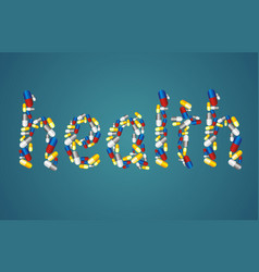 healthcare concept - pills vector image vector image