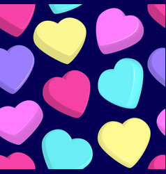 pattern with colorful hearts vector image
