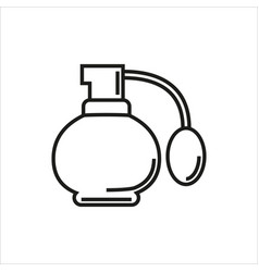 perfume simple icon on white background vector image