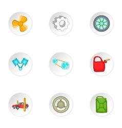 Repair machine icons set cartoon style vector
