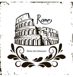 rome the colosseum vector image