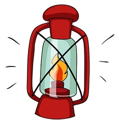 Simple design of camping lamp vector