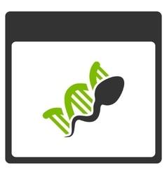 Sperm DNA Replication Calendar Page Flat Icon vector image