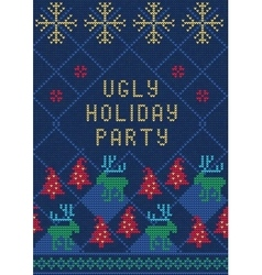 Ugly Sweater Party3 vector image