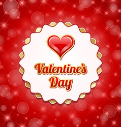 Valentines day badge vector image vector image