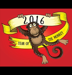 Year of the Monkey 2016 design vector image vector image