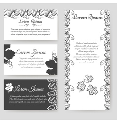 Personal card with grape leaves vector image