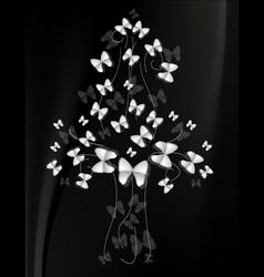 tree of butterflies vector image