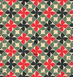 Seamless mosaic pattern with scratched grungy vector image