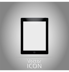 Icon Tablet Flat Style vector image