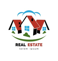 House or real estate logo vector image