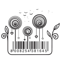 Concept with barcode vector