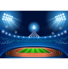 Stadium background 2016 summer games vector