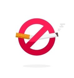 No smoking sign icon badge label broken vector
