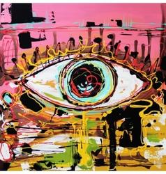 Abstract composition of human eye vector