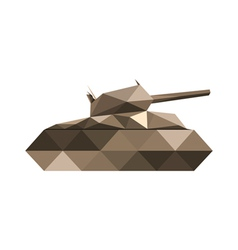abstract origamil tank vector image