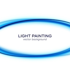 banner design with blue light curves vector image vector image