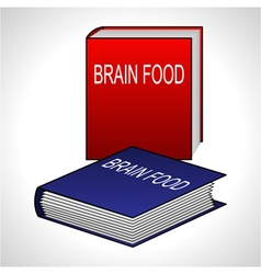 Book icon - brain food vector