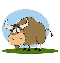 Cartoon yak vector