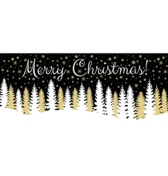 Christmas horisontal banner vector