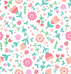Colorful floral print pattern vector image