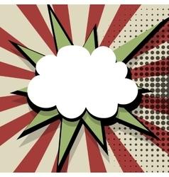 Comic colored speech bubble pop art vector