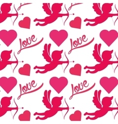 cupid silhouette pattern icon vector image vector image