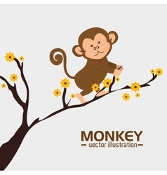 funny monkey design vector image