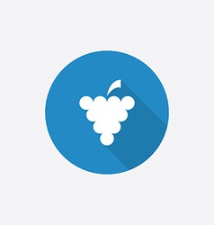 grapes Flat Blue Simple Icon with long shadow vector image