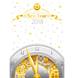 happy new year 2018 silver golden logo icon vector image vector image
