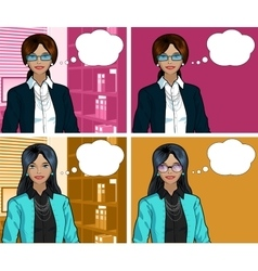 Indonesian Businesswoman pop art comic vector image vector image
